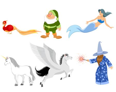 pegasus: ilustraci�n de un seis personajes de cuentos de hadas