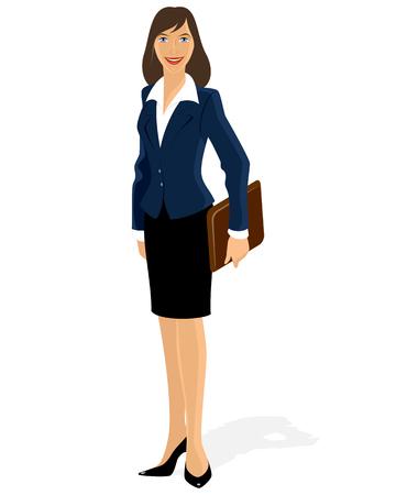 traje formal: ilustraci�n de una mujer de negocios con la cartera