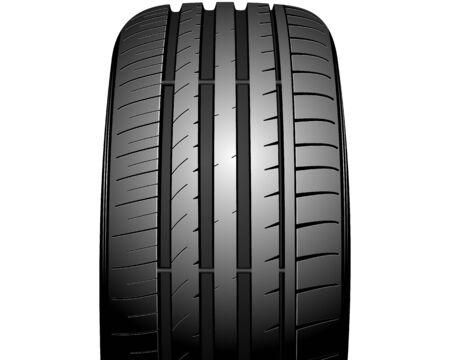 tire tread: illustration of a new auto tire on white Illustration