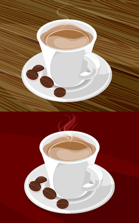 mocca: illustration of a coffee cup on a table