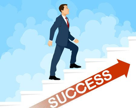 Vector illustration of a steps to success