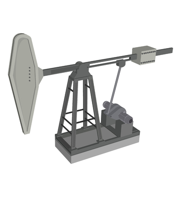 oilwell: Vector illustration of a grey oil pump