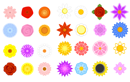 stylistic embellishments: Vector illustration of a floral shapes set