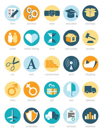 statistics icon: Vector illustration of a web icons set