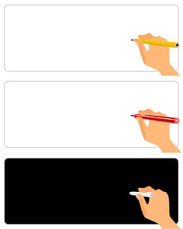 hand writing: Vector illustration of a writing hand on white
