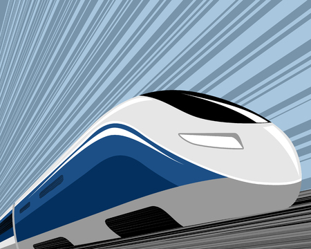 Vector illustration of a high speed train
