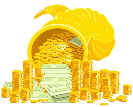 ilustración de un cuerno de la abundancia