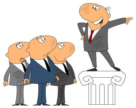 aspirational: illustration of a leader shows way