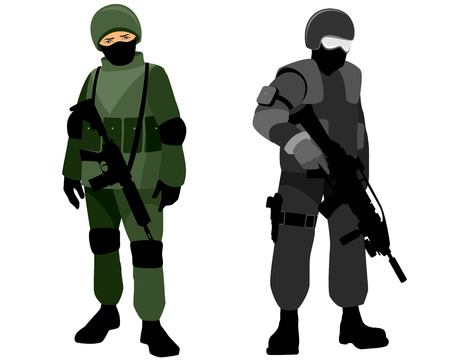 special forces: Vector illustration of a special forces soldiers