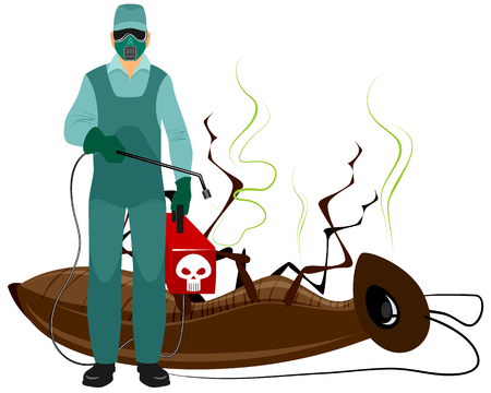 Vector illustration of a insect extermination services