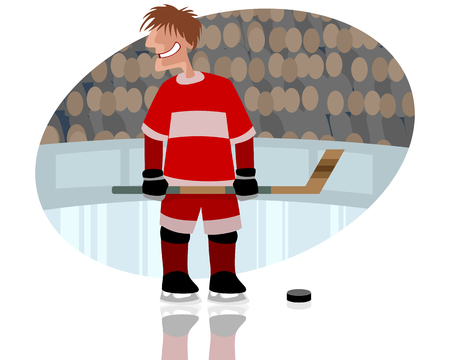 rink: illustration of a hockey player on rink
