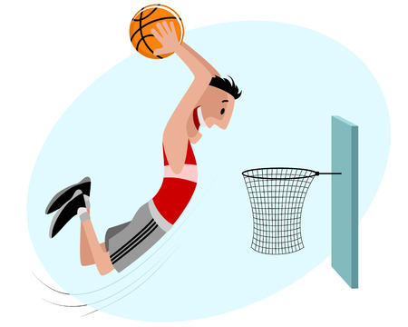 scoring: illustration of a basketball player with ball