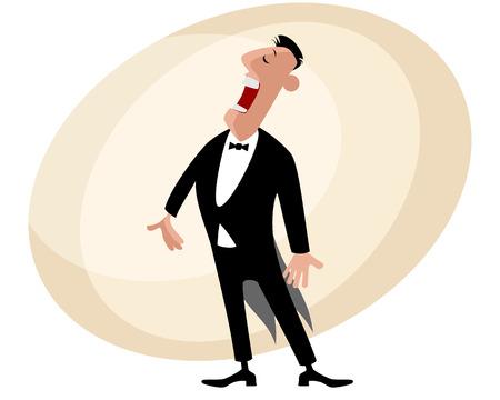 popular: illustration of a popular singer