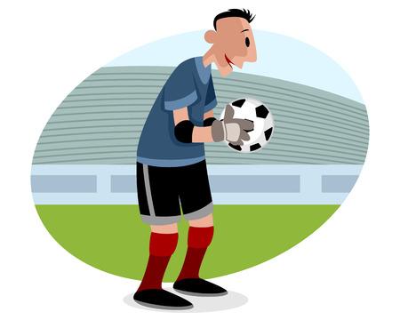 goalie: illustration of a goalie with ball