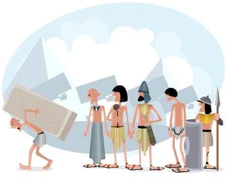 Vector illustratie van een slaven en meesters Vector Illustratie