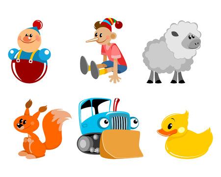 Vector illustration of a six toys set Ilustração