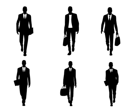 rustler: Vector illustration of a six businessmen set
