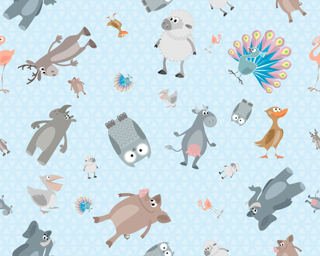 Vector illustration of a children's seamless texture