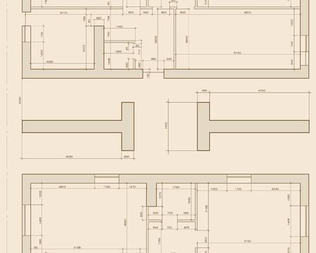 Vector illustration of seamless texture in plan view Ilustração