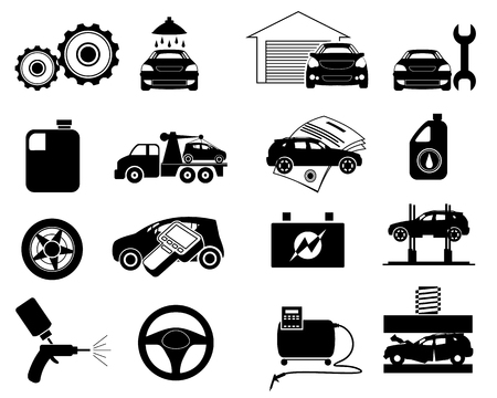 Vector illustration of repair service icon set Stock Illustratie