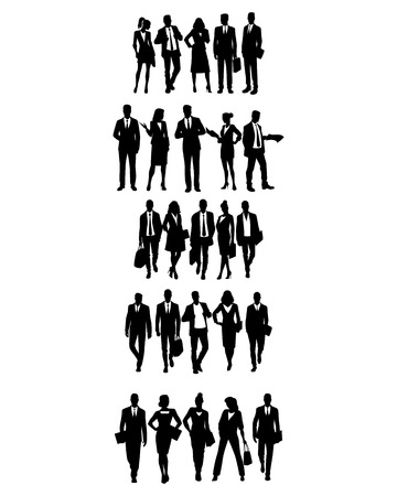 Vector illustration of groups of business people
