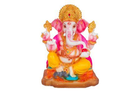 Hindu God Ganesh with clipping path