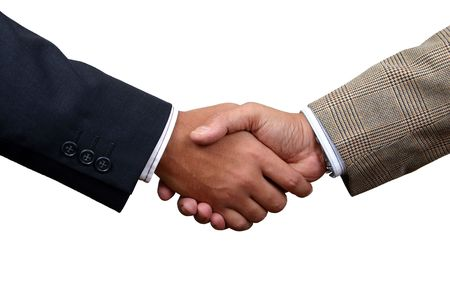 autograph: Business handshake with clipping path