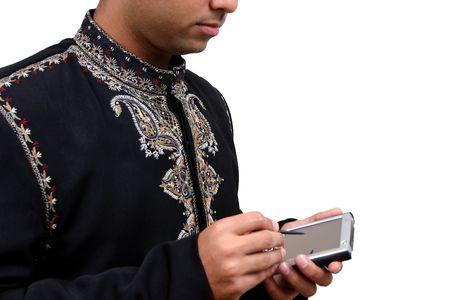 organise: En la ropa tradicional india usando pda (3) con saturaci�n camino