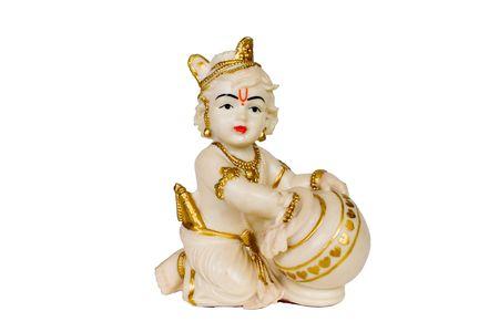 A figure of Hindu God Krishna photo