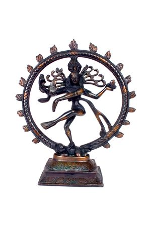 bharatanatyam dance: Indian Lord of the Dance Natraj With Clipping path