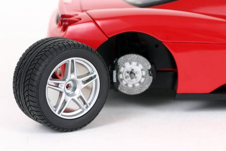 Changing the car wheel photo