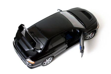 Black car top view