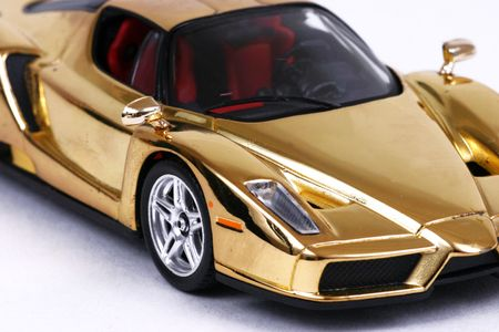 Golden car Stock Photo - 982900