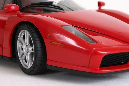 motor de carro: Roja coche deportivo  Foto de archivo