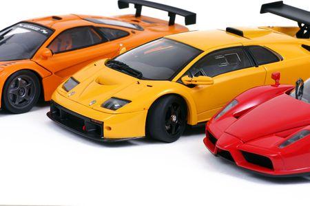 3 sports cars Stock Photo