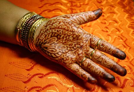 Hand with Henna Design photo