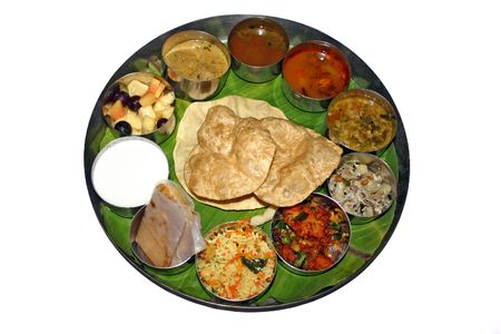 indian meal: Indian Thali Stock Photo