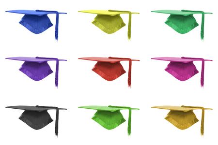 Graduation mortar background Stock Photo - 1599781