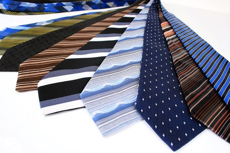 formality: Close-up of ties Stock Photo