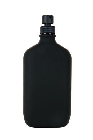 parfum: black parfum bottle isolated on white