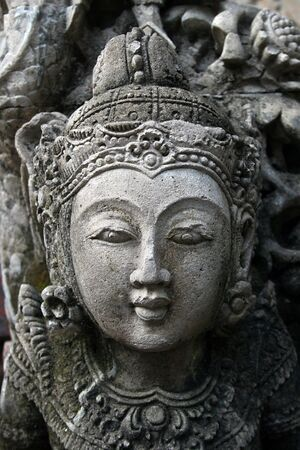 indian art: Sculptured beauty closeup.