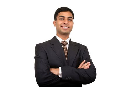 Indian businessman smiling photo