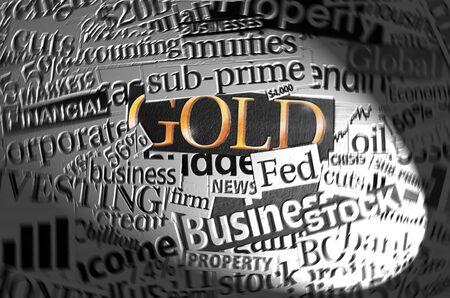 Gold in spotlight. Stock Photo - 2064246