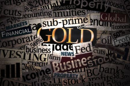 Gold in spotlight 2 Stock Photo - 2074442
