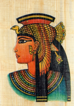 Queen Cleopatra on Papyrus photo