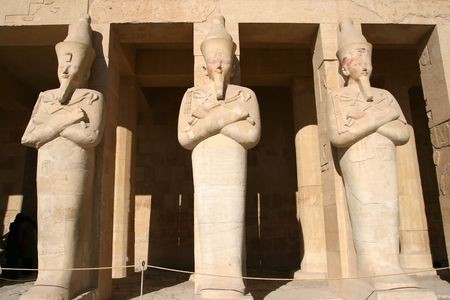 mummification: Temple of Hatshepsut in Egypt near The Valley Of The Kings