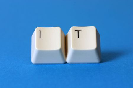 The word �IT� formed with keyboard keys photo