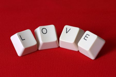 The word �Love� formed with keyboard keys photo