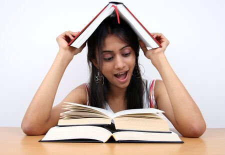 Indian student preparing for exams. Stock Photo - 2911861