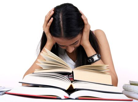 Indian student preparing for exams. Stock Photo - 2911872